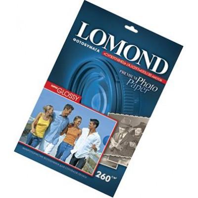 Фотобумага А3, одн, суперглянец яркий, 260г, 20л, (Lomond)5760 dpi /1103130
