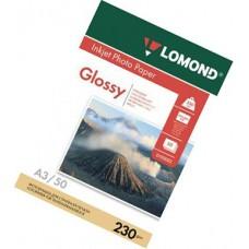 Фотобумага А3, одн, глянец, 230г, 50л, (Lomond) 2880 dpi /0102025