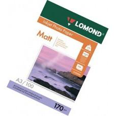 Фотобумага А3, двух, матовая, 170г, 100л, (Lomond) 2880 dpi /0102012