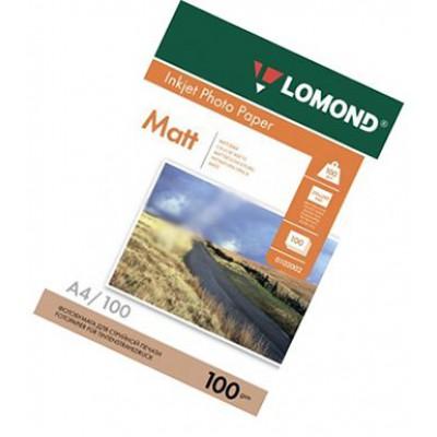 Фотобумага А4, двух, матовая, 100г, 100л, (Lomond) 2880 dpi /0102002