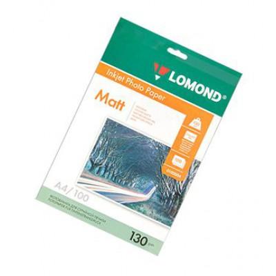 Фотобумага А4, двух, матовая, 130г, 100л, (Lomond) 2880 dpi /0102004
