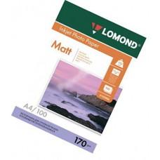 Фотобумага А4, двух, матовая, 170г, 100л, (Lomond) 2880 dpi /0102006