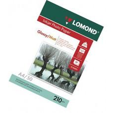Фотобумага А4, двух, глянец/матовая, 210г, 50л, (Lomond) 2880 dpi /0102021