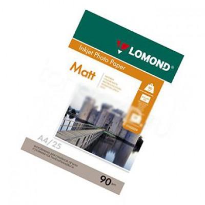 Фотобумага А4, одн, матовая, 90г, 25л, (Lomond) 2880 dpi /0102029