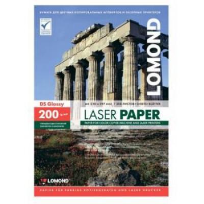 Фотобумага А4, двух, глянец, 200г, 250л, (Lomond) для лазерной печати 600 dpi/0310341
