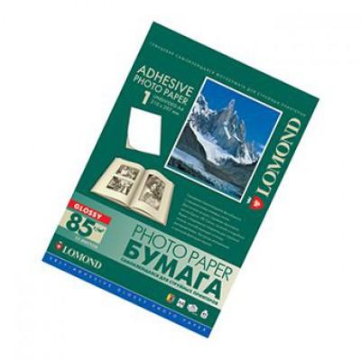 Самоклеящ фотобумага А4, глянцевая, 85г, 25л, струйн печать, (Lomond) /2410003