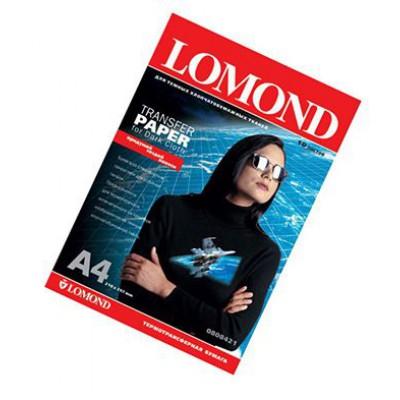 Термотрансф бумага А4, 140г, 10л, струйн печать, для черн/цвет хлопка, (Lomond) /0808421