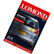 Магнитный материал А4, 530г, глянец, 2л, струйн печать, вод/пигмент чернила, (Lomond) /2020345