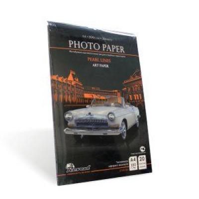 Фотобумага А4, тисненная жемчуг, 200г, 20л, струйн печать, (Revcol Premium) 5760 dpi