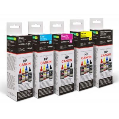 Чернила универсальные для HP, Canon, Lexmark, (Revcol), Cyan, Dye, 100мл. картонная упаковка