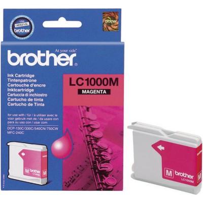 Картридж Brother LC-1000 M - DCP-130C/330C/350C/540CN/560CN/750CW/770CW/MFC-240C (400к) пурпурный