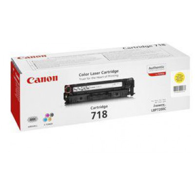 Картридж Canon 718Y - LBP-7200/7660/7680/MF8340/8360/8380 (2900к) желтый