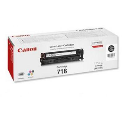 Картридж Canon 718Bk - LBP-7200/7660/7680/MF8340/8360/8380 (3400к) черный