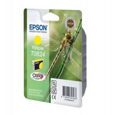 Картридж Epson T0824 - St. R270/290/RX590 желтый