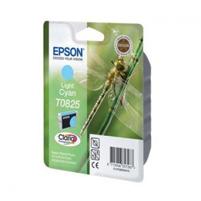 Картридж Epson T0825 - St. R270/290/RX590 светло-голубой