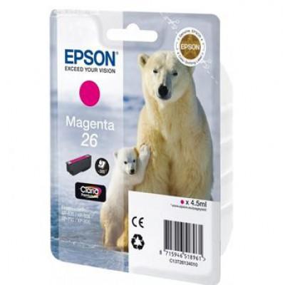 Картридж Epson 26M - XP600/7/8 пурпурный