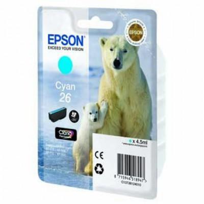 Картридж Epson 26XLC - XP600/700/800 голубой