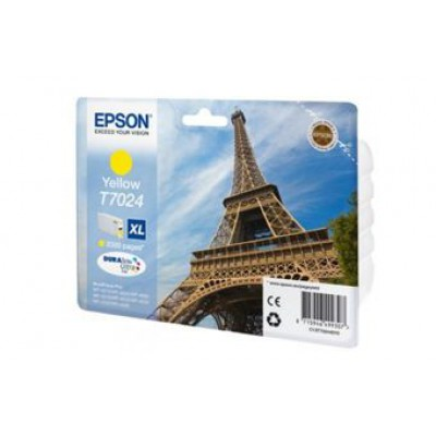 Картридж Epson T7024 - WorkForce Pro-4015/4025/4095 желтый