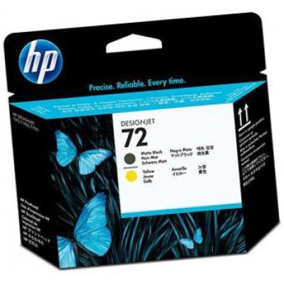 Печатающая головка HP (72) C9384А - DesignJet-T1100/T1120 матово-черная и желтая
