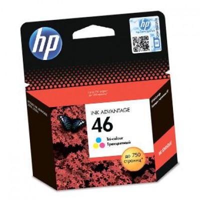 Картридж HP (46) CZ638AE - Deskjet 2020hc/2520hc цветной (750к)