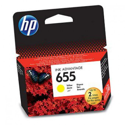 Картридж HP (655) CZ112AE - DeskJet IA 3525/5525/4615/4625 желтый (600к)